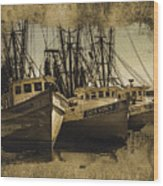 Vintage Darien Shrimpers Wood Print
