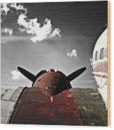 Vintage Dc-3 Aircraft  Wood Print by Steven  Digman
