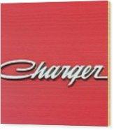 Vintage Dodge Charger Logo Wood Print