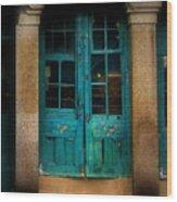 Vintage Doors Wood Print