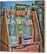 Vintage Double Dot Wooded Pepsi Carrier Wood Print