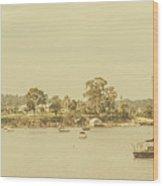 Vintage Dover Harbour Tasmania Wood Print