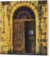 Vintage Entrance Wood Print