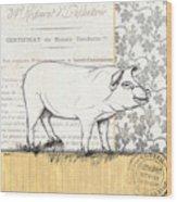 Vintage Farm 2 Wood Print by Debbie DeWitt