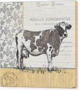 Vintage Farm 4 Wood Print by Debbie DeWitt