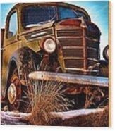 Vintage Farm Truck Wood Print