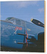 Vintage Fighter Aircraft, Burnet, Texas Wood Print