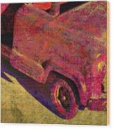 Vintage Firetruck Wood Print