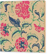 Vintage Flower Design Wood Print
