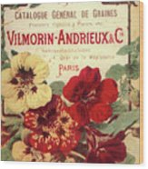 Vintage Flower Seed Cover Paris Rare Wood Print
