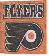 Vintage Flyers Sign Wood Print