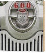 Vintage Ford 600 Nameplate Emblem Wood Print