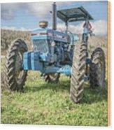 Vintage Ford 7610 Farm Tractor Wood Print
