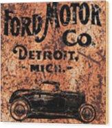 Vintage Ford Motor Company Wood Print