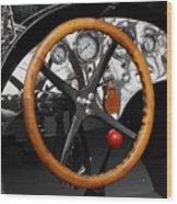 Vintage Ford Racer Dashboard Wood Print