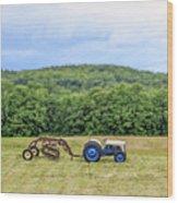 Vintage Ford Tractor Tilt Shift Wood Print