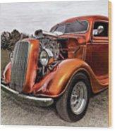 Vintage Ford Truck Rod Wood Print