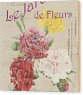 Vintage French Flower Shop 4 Wood Print