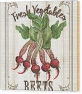 Vintage Fresh Vegetables 1 Wood Print