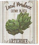 Vintage Fresh Vegetables 2 Wood Print