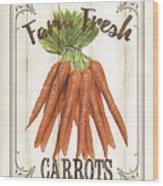 Vintage Fresh Vegetables 3 Wood Print