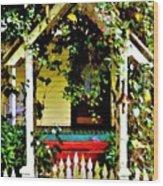 Vintage Garden Arbor Gate Wood Print