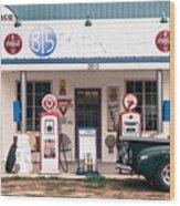 Vintage Gas Station Wood Print