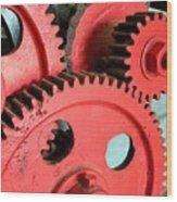 Vintage Gears Wood Print