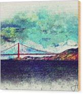 Vintage Golden Gate Wood Print