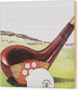 Vintage Golf Art - Circa 1920's Wood Print