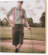 Vintage Golf Wood Print