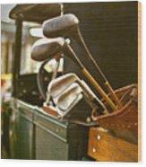 Vintage Golf Set Wood Print