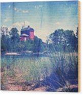 Vintage Great Lakes Lighthouse Wood Print