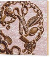 Vintage Hairdressing Charm Wood Print