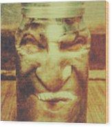 Vintage Halloween Horror Jar Wood Print