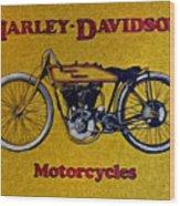 Vintage Harley Davidson Wood Print