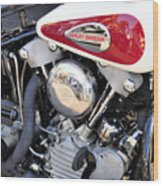Vintage Harley V Twin Wood Print by David Lee Thompson