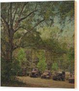 Vintage Harvey Trucks In Northwest Florida Wood Print