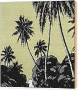 Vintage Hawaii Palms Wood Print