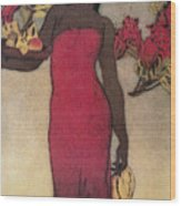 Vintage Hawaiian Woman Wood Print