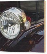 Vintage Headlight Wood Print