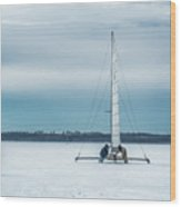 Vintage Ice Boat Wood Print