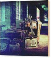 Vintage Industrial Blueprint Wood Print