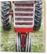 Vintage International Harvester Tractor Wood Print