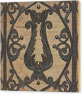 Vintage Iron Scroll Gate 2 Wood Print by Debbie DeWitt