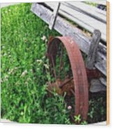 Vintage Irrigation Wagon Wood Print