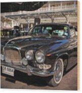 Vintage Jaguar Wood Print