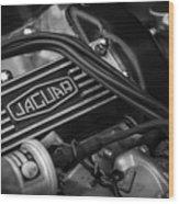 Vintage Jaguar Engine Wood Print