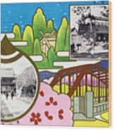 Vintage Japanese Art 8 Wood Print