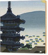 Vintage Japanese Art 9 Wood Print